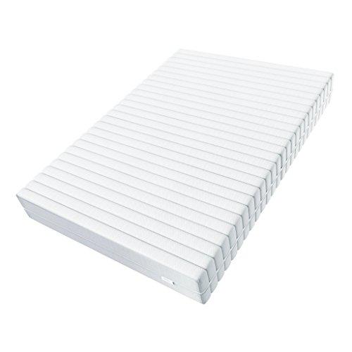 Hilding Sweden Essentials XXL (ca. 26 cm Höhe) Komfortschaum Matratze, mit orthopädischem 7-Zonen Schnitt (H3 – H4) XXL, 140 x 200 x 26 cm für alle Schlaftypen, Bezug bei 60°C waschbar