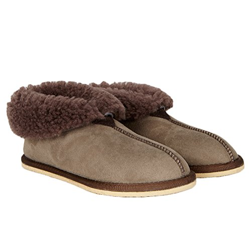 Celtic & Co Womens British Shearling Bootee Slippers - Vole - Size 11 US