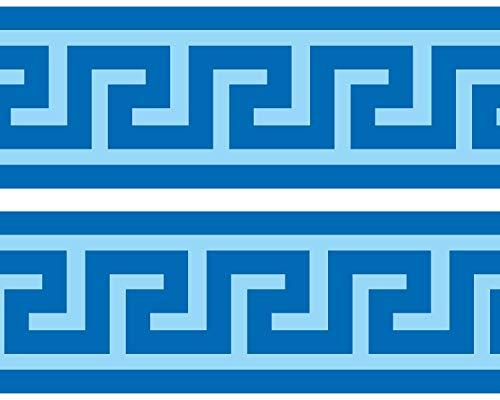 Kleisterbordüre Mäander, 4-teilig 520x15cm, Tapetenbordüre, Wandbordüre, Borte, Wanddeko,Griechenland, Fluss