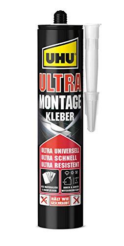 UHU Montagekleber Ultra Kartusche, Universeller Montageklebstoff mit ULTRA schnellem Stärkeaufbau, 435 g
