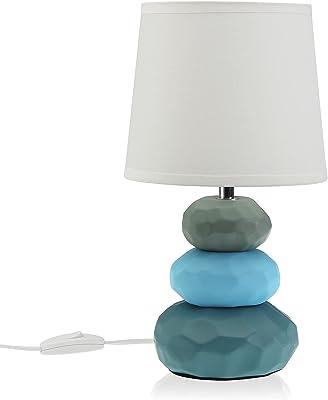 Versa Lampe linus bleue, ligne lampes, table