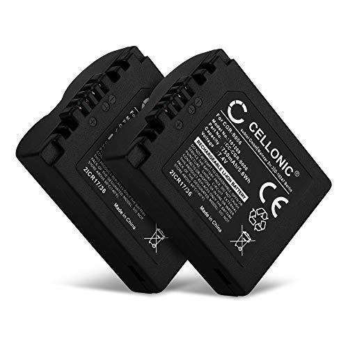 CELLONIC 2X Akku kompatibel mit Leica V-LUX 1 Lumix DMC-FZ8 DMC-FZ7 DMC-FZ18 DMC-FZ28 Lumix DMC-FZ30 DMC-FZ35 DMC-FZ38 DMC-FZ50, CGR-S006e CGA-S006a DMW-BMA7 BP-DC5 750mAh Ersatzakku Batterie