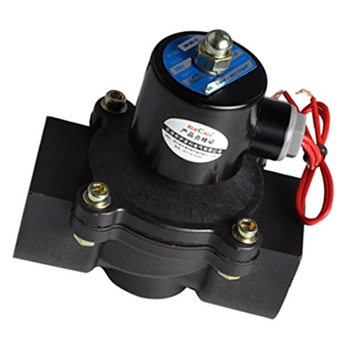 MagiDeal Kunststoff Elektrisches Magnetventil Für Wasser Luft Öl Brennstoffe Normally Geschlossen - 32mm AC220V