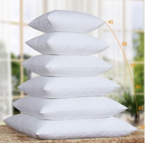 Rohi New Duck Feather Cushion Pad Inner Insert, 100% Natural Cotton | Double Stitched Seams | Non Allergenic | Machine Washable (Pack of 1, 18' x 18' | 45cm x 45cm)