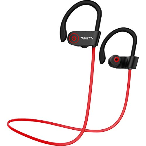 Fire-Boltt Echo 1300 Bluetooth Earphone, Wireless Neckband, in Ear Headset with HD Calling & Rich Bass (Red)