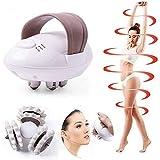 Masajeador de mano, Rodillo de masaje eléctrico para quemar grasa, Rodillo de masaje adelgazante de cuerpo completo anti-celulitis electrónico giratorio 3D
