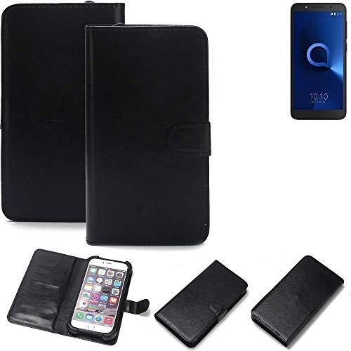 K-S-Trade® Handy Schutz Hülle Für Alcatel 1C Dual SIM Schutzhülle Bumper Schwarz 1x