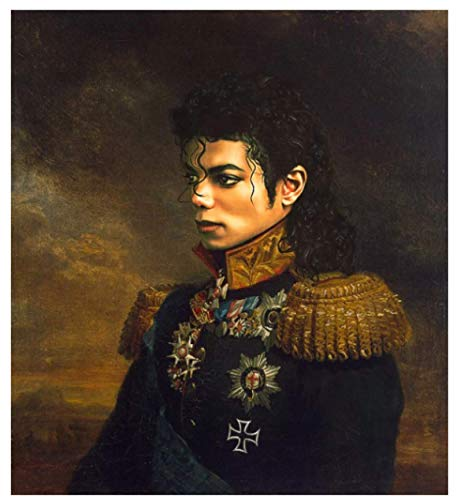 WZGJZ Cuadro De Lienzo De Michael Jackson Cuadro De Arte De Pared Moderna Decoración del Hogar Za55Kx 40X60Cm Sin Marco