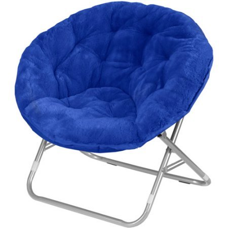 Mainstays Faux-Fur Saucer Chair | Dimensions: 30'L x 28'W x 29'H (Royal Spice)