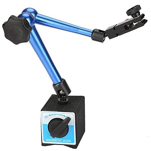 Yongenee Medidor de Base magnética, sostenedor Fuerte Soporte magnético Base Estable Flexible de precisión for Manómetro de Indicación Calibre for el indicador de la Palanca Dial Dial Indicador