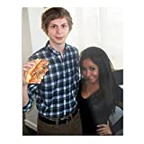 Michael Cera Holding A Large Pizza Next to Snooki The Best and Style Home Decor Wall Art Print Poster Customize