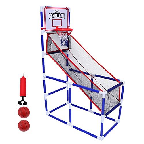 Toyvian 1 Juego de Baloncesto Arcade Aro de Baloncesto para Niños Mini Juguete de Tiro de Baloncesto para Interiores con Pelotas de Baloncesto Y Bomba de Aire para Niños