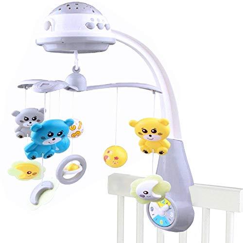 Baby Mobile für Kinderbett mit Deckenprojektor Musik und Naturgeräuschen Musikmobile Starlight