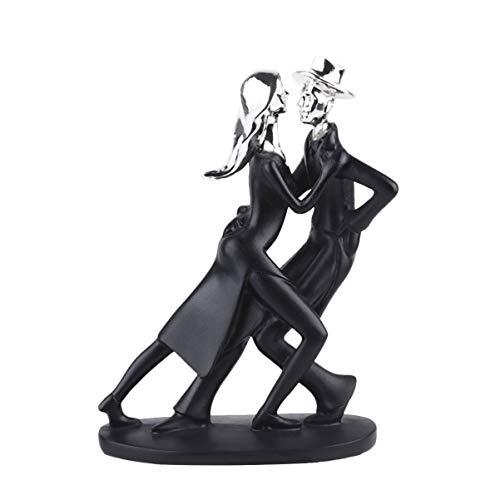 Healifty Romantische Tanzpaar Figur Harz Liebesstatue Tänzer Skulptur Brautpaar Deko Objekt für Geburtstag Valentinstag Jahrestag Hochzeit Tischdeko Auto Dekoration (B)