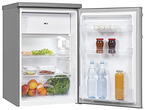 Exquisit Kühlschrank KS16-4-HE-040D inoxlook | Standgerät | 109 l Volumen | Inoxlook