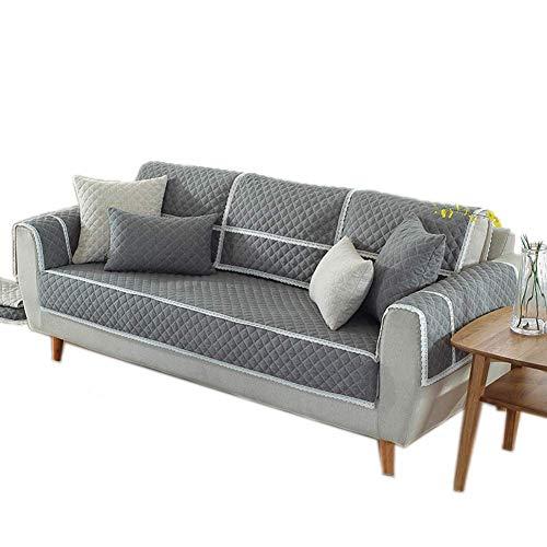 Yuany Funda de sofá Antideslizante Tckening Alfombra Transpirable Algodón y Lino Protector de Muebles Pesados de Varios tamaños, 110 * 110 cm