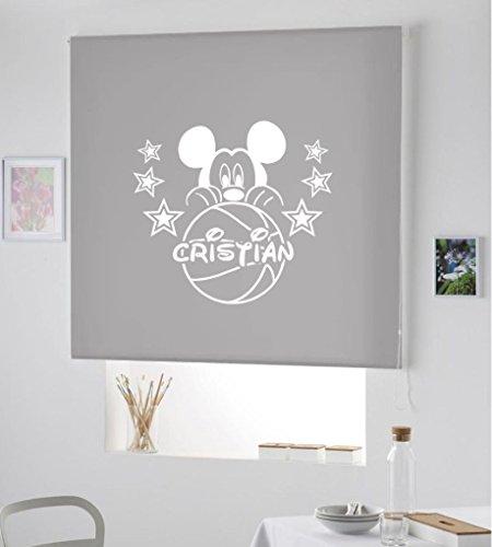 Desconocido Estor Infantil Enrollable TRANSLUCIDO Dibujo Mickey con Nombre. ESTORES Infantiles con...