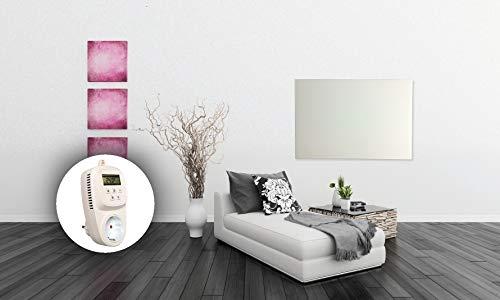 HoWaTech Infrarot Glasheizkörper 60x120cm 1050W Heizpaneel mit Steckdosenthermostat kaufen  Bild 1*
