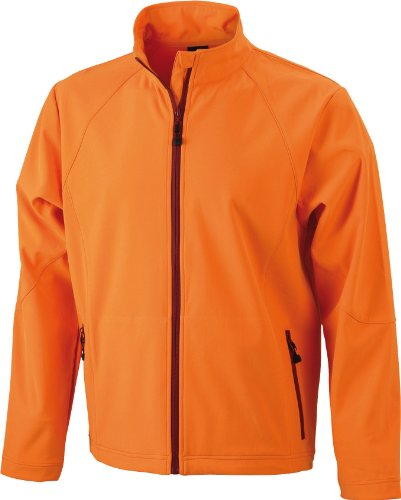 James & Nicholson Herren Jacke Softshelljacke orange (orange) X-Large