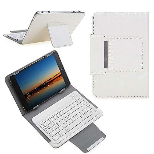Teclado Bluetooth para Tableta 10 Funda de Teclado inalámbrico Universal para 9.7 10 10.1 Pulgadas Tablet PC para LN Tab M10 FHD Plus TBX606F TBX606X 10.3 Cubierta Tablet con Funda (Color : White)