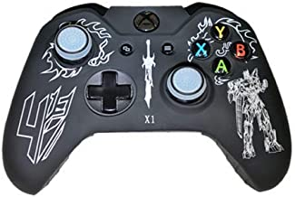Silicone Cover For XBOX ONE Controller Skin Transformer Design White + Grips