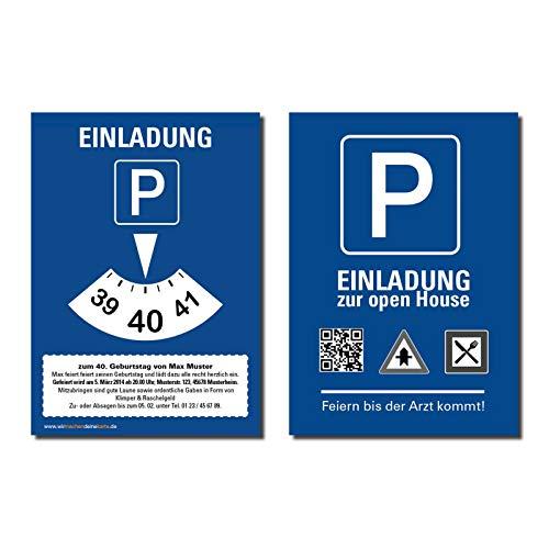 Uitnodiging uitnodigingskaart verjaardagskaart parkeerschijf individueel