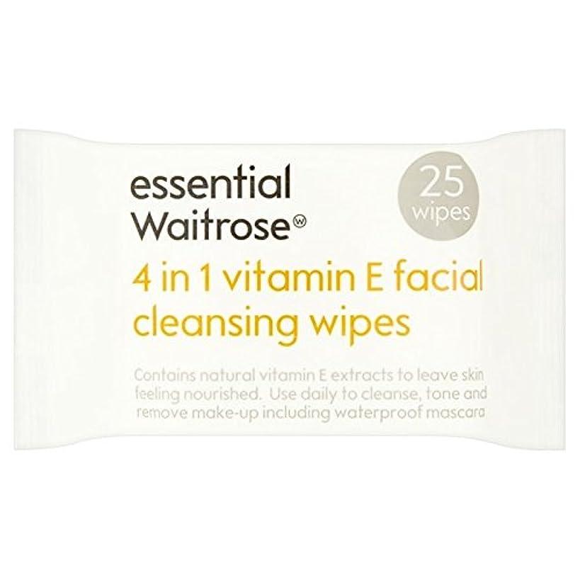 パシフィックインスタンス未満Essential 4 in 1 Cleansing Wipes Vitamin E Waitrose 25 per pack - 1つのクレンジングで4不可欠パックあたりのビタミンウェイトローズ25ワイプ [並行輸入品]