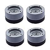 Guanici Amortiguador de vibraciones universal para lavadora, amortiguador de golpes, almohadilla de goma para los pies,arandelas estabilizadoras para lavadoras, frigoríficos y secadoras 4 piezas
