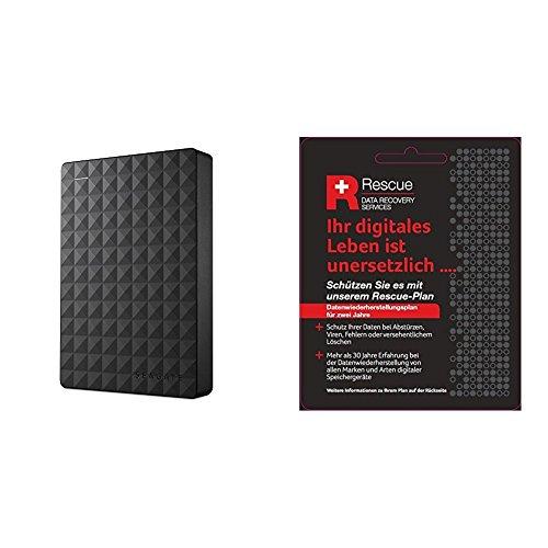 Seagate STEA4000400 Expansion Portable externe tragbare Festplatte, 4 TB, schwarz, 2019 Deluxe Edition