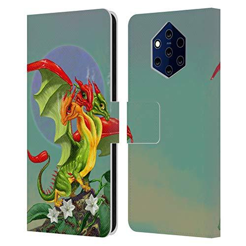 Head Case Designs sous Licence Officielle Stanley Morrison Poivron à Trois têtes Les Dragons 2 Coque en Cuir à Portefeuille Compatible avec Nokia 9 PureView