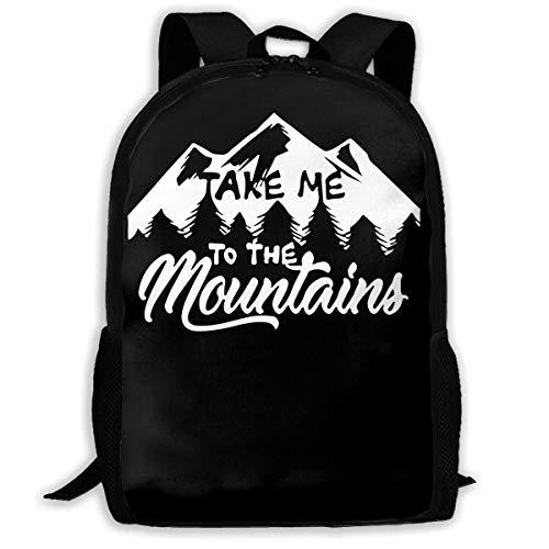 ADGBag Take Me to The Mountains Fashion Outdoor Shoulders Bag Durable Travel Camping for Kids Backpacks Shoulder Bag Book Scholl Travel Backpack Sac à Dos pour Enfants