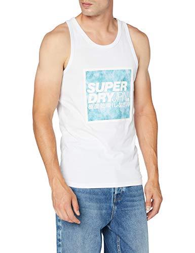 Superdry JPN Tie Dye Block Vest Camiseta sin Mangas para Hombre