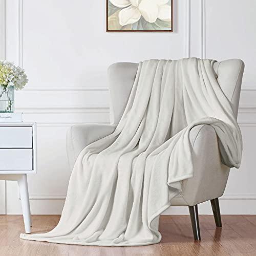 Walensee Fleecedecke, flauschig, leicht, für Queen-Size-Bett, 228,6 x cm, Silbergrau, superweiche Mikrofaser-Flanell-Decken Couch, Bett, Sofa, ultra-luxuriös, warm und gemütlich alle Jahreszeiten.