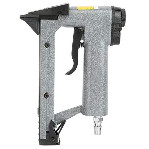 Pistola de clavos neumática, grapadora neumática, aleación de aluminio, rápido y eficiente para el hogar, para fijación de marcos de fotos, clavadoras neumáticas con llave hexagonal