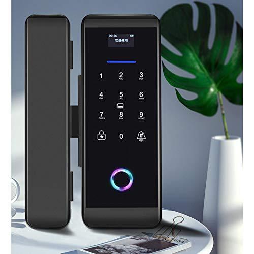 Cerradura de puerta inteligente inalámbrica inteligente 5 en 1 para seguridad en el hogar para apartamentos(black)