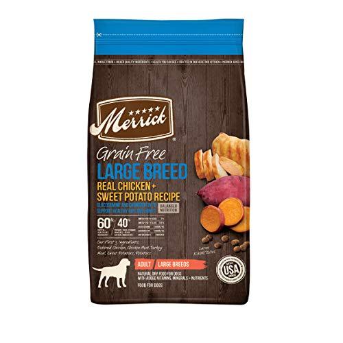 Merrick Grain Free Large Breed Dry Dog Food Real Chicken & Sweet Potato Recipe – 22 lb. Bag