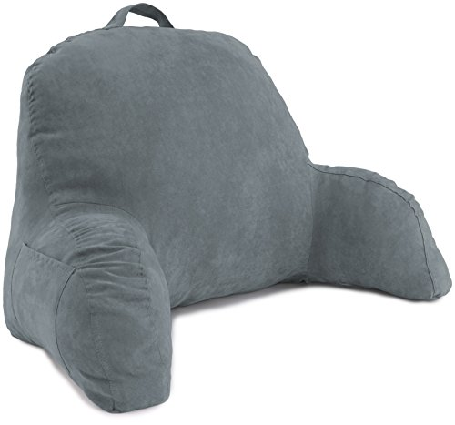 Deluxe Comfort J-12-DarkGrey Reading & Bed Rest Pillows, One Size, Dark Grey
