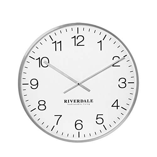 Riverdale Wandklok Camden zilver 53cm