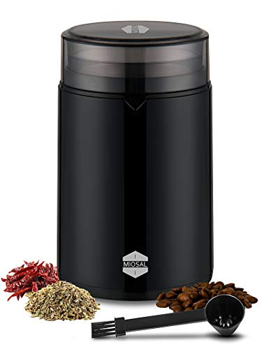 Miosal Electric Coffee Grinder Spice Grinder with Stainless Steel Blades and Removable Grinding Bowl...