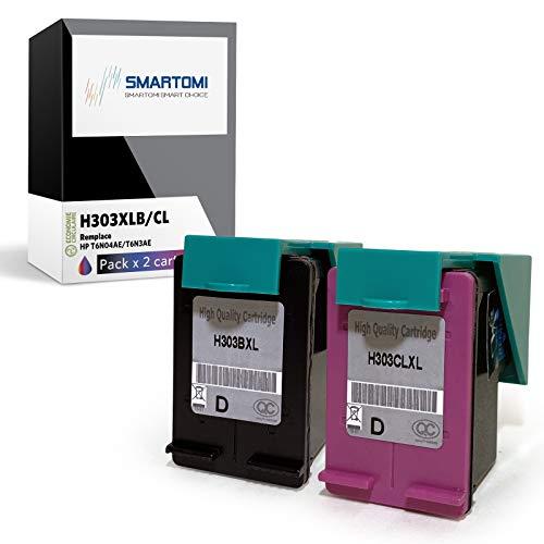 SMARTOMI Remanufacturado 303XL 303 Compatibles con HP 303 XL Cartucho de Tinta para Printer Envy Photo 6220 6230 6232 7120 7130 7132 7820 7830 7832 AIO Series 2 Cartuchos