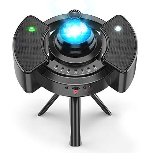 Sternenhimmel Projektor ohne Rauschen Neueste, Anti-Laser-Sicherungsring, verstellbares 360°-Stativ, 22 Projektionsmodi Lampe Sternenhimmel, Bluetooth-Modus, Timing-Modus, Mond or Wal Hiroumer