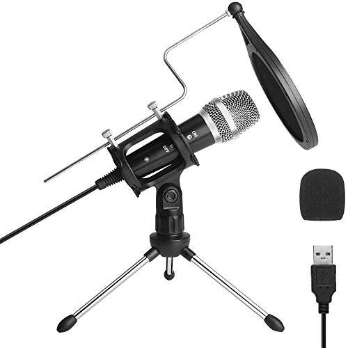 ILS - ARCHEER condensatore USB Studio Microfono PC vivo registrazione microfonica per YouTube Streaming Broadcast gioco per Windows Portatile MAC