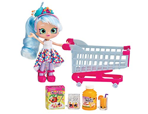 Shopkins HPKG1000 Flair Real Littles Mini Packs Trolley & Shoppie, Multicolour