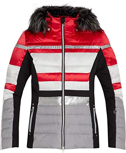McKINLEY Damen Diliana Jacke, Red/White/Black Nigh, 36 (S)