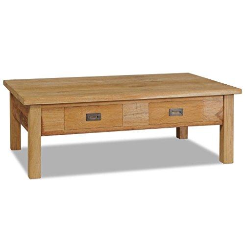 vidaXL Teck Massif Table Basse Table d'Appoint Meuble de Salon Canapé Maison