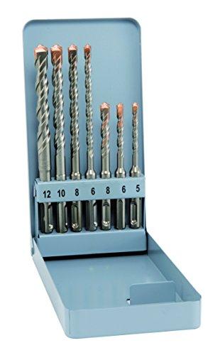 alpen SDS-plus Hammerbohrer F4 forte, 2 Schneiden, Durchmesser 5, 6, 8 x 110 mm und 6, 8, 10, 12 x 160 mm als 7-teiliger Satz im Gewerbepack, 500007100