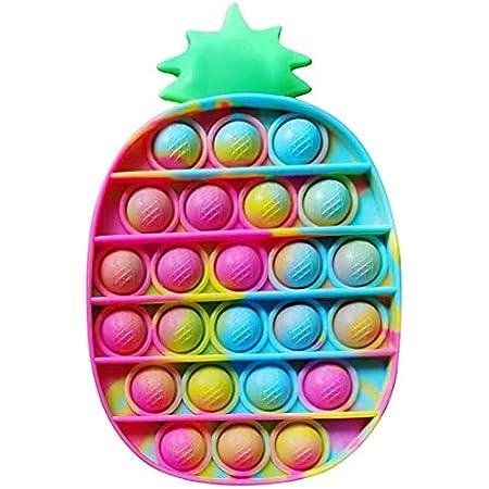 SPRINT GEAR Pop it Fidget Toys,Push PopBubble, popit Jeux Pas Cher, poppit figette Anti Stress, Multicolore popite fijets Toys Objet satisfaisant (Ananas)