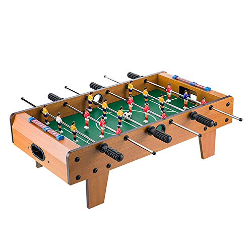 Table Soccer Houten Voetbal Tafel Fun Football Toy Set 27 '' Countertop 6 Joysticks Houten Frame Gebruikt voor Family Entertainment, Ouder-kind interactie, lichamelijke en geestelijke oefening