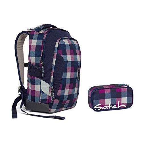 Satch Sleek by Ergobag - Schulrucksack 2tlg. Set - Berry Carry