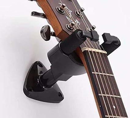 DeTrust Guitar Hanger General Guitar Hanger Hook Holder Wall Mount Display Black Light Weight and Portable Design